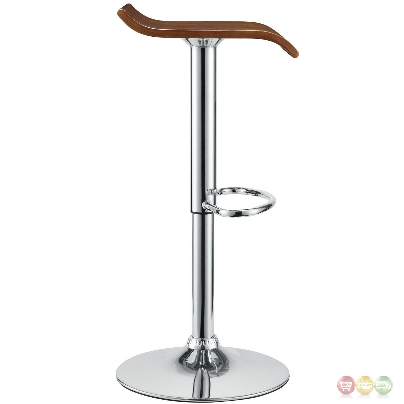Modern Wood Bar Stool Bentwood Modern Wooden Seat Bar Stool W Chrome Base And Foot