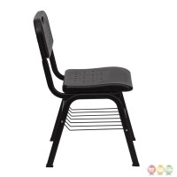 Black Plastic Chair with Black Powder Coated Frame and ...