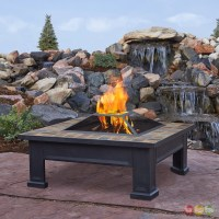 "Breckenridge Outdoor Wood-burning 34"" Square Fire Pit With ..."
