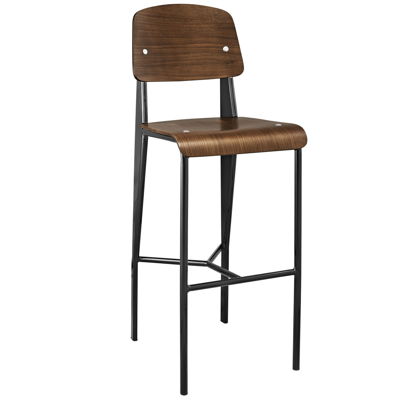 Contemporary Bar Stools Cabin Contemporary Bentwood Back Bar Stool With Metal
