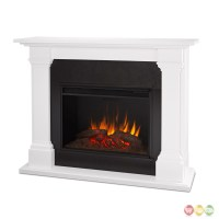 Callaway Grand Vivid Led Electric Fireplace In White ...