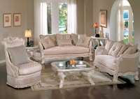 Michael Amini Lavelle Blanc Traditional Luxury Living Room