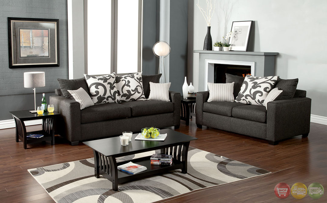 Colebrook Contemporary Medium Gray Living Room Set with