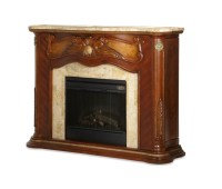 ichael Amini Cortina Fireplace w/Marble Top & Electric