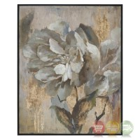 Dazzling Gray Gold Floral Wall Art On Canvas With Narrow ...