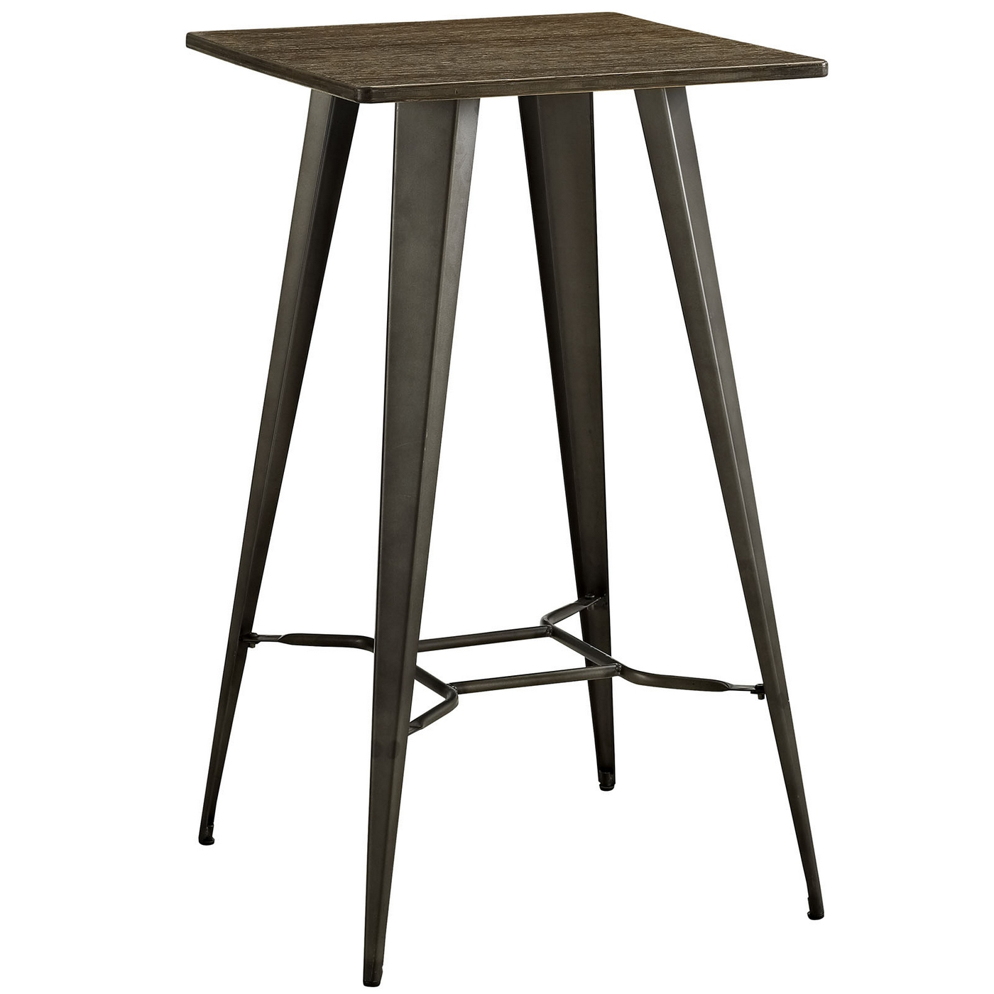 Table Bar Industriel Direct Industrial Bamboo Top Bar Table With Steel Legs Brown