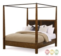 Echo Park Birch California King Canopy Bed With Stipple ...
