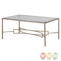 Eilinora Coffee Table With Antique Silver Iron Frame And ...