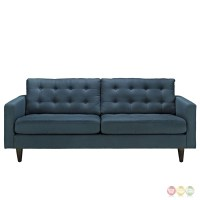 Empress Contemporary Button-tufted Upholstered Sofa, Azure