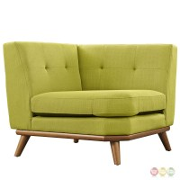Engage Contemporary 5pc Button-tufted Fabric Sectional ...