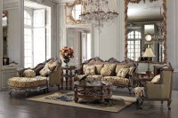 Formal Luxury Sofa & Chaise Lounge Traditional Living Room Set