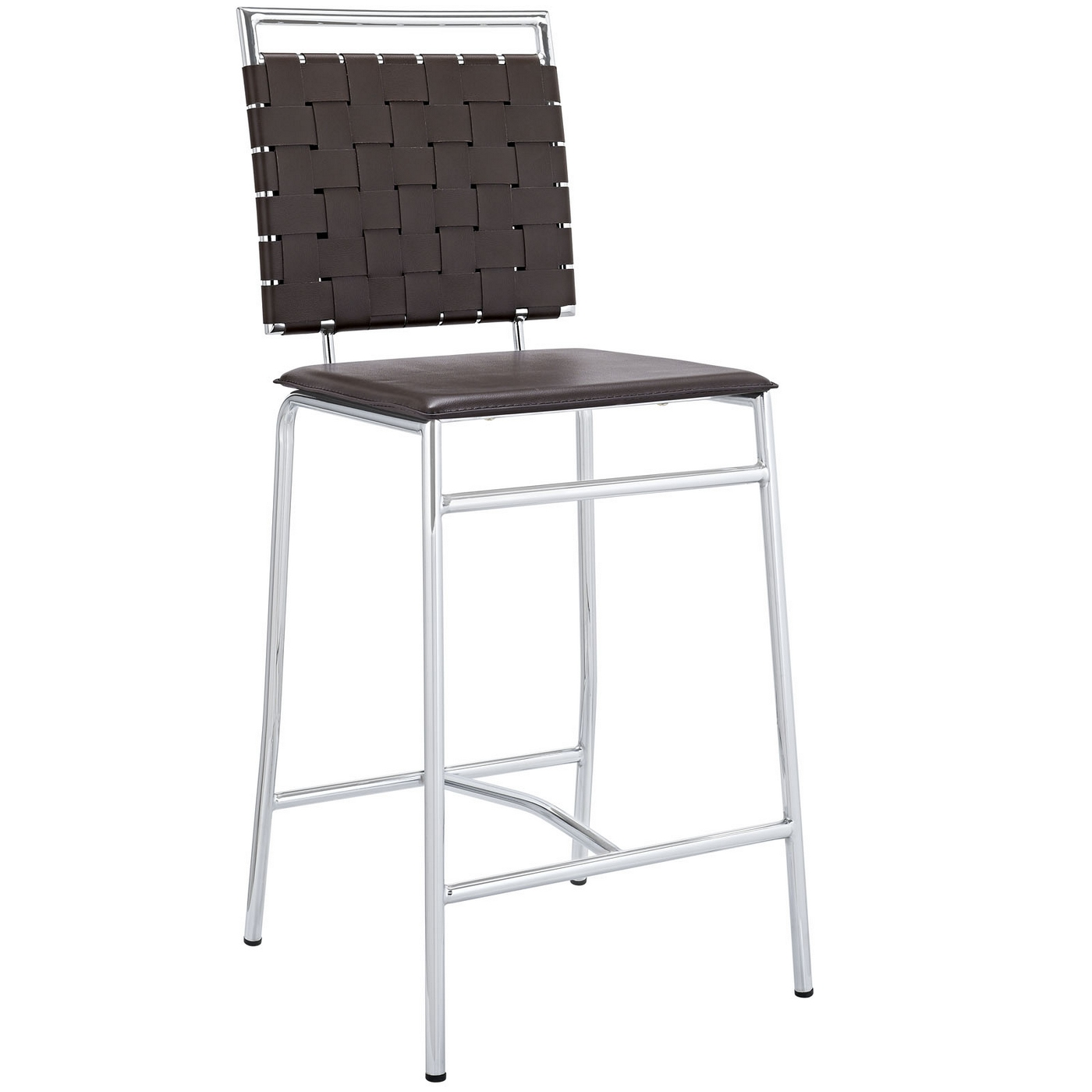 Modern Counter Height Stools Fuse Modern Counter Height Stool W Webbed Back And Chrome