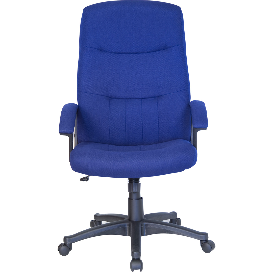 Blue Office Chair High Back Navy Blue Fabric Executive Swivel Office Chair