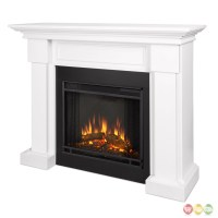 Hillcrest Led Electric Heater Fireplace In White, 4700btu ...