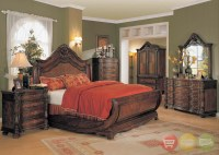 Jasper Traditional Bedroom Furniture Sleigh Bed Marble ...