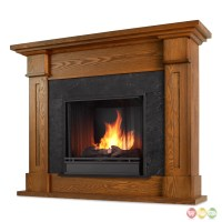 Kipling Ventless Gel Fuel Fireplace In Burnished Oak With ...