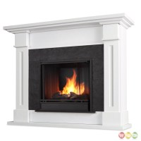 Kipling Ventless Gel Fuel Fireplace In White With Cast ...