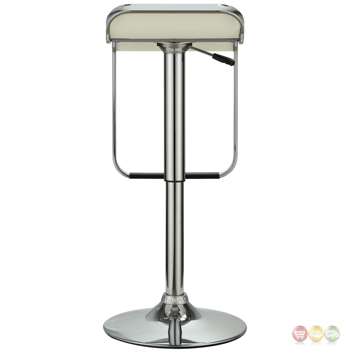 Modern White Bar Stools Lem Modern Backless Vinyl Bar Stool With Foot Rest And