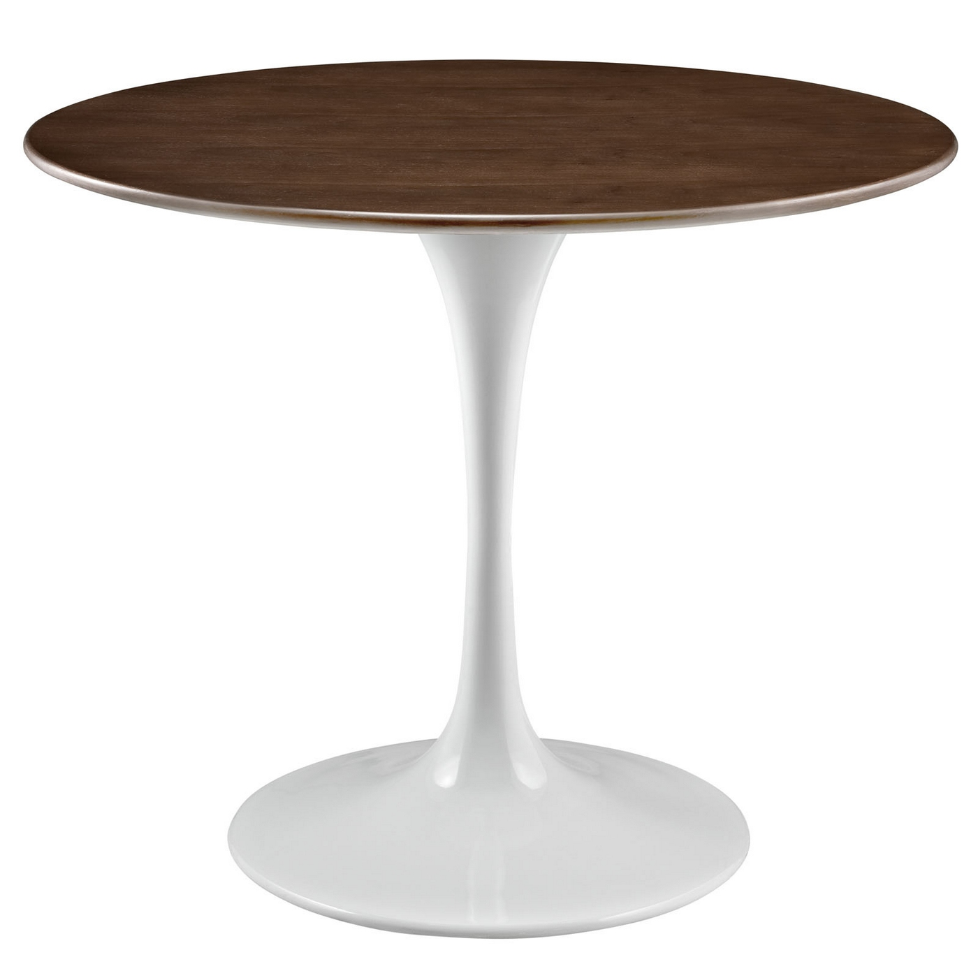36 Tulip Table Lippa 36 Quot Round Walnut Top Dining Table With Lacquered