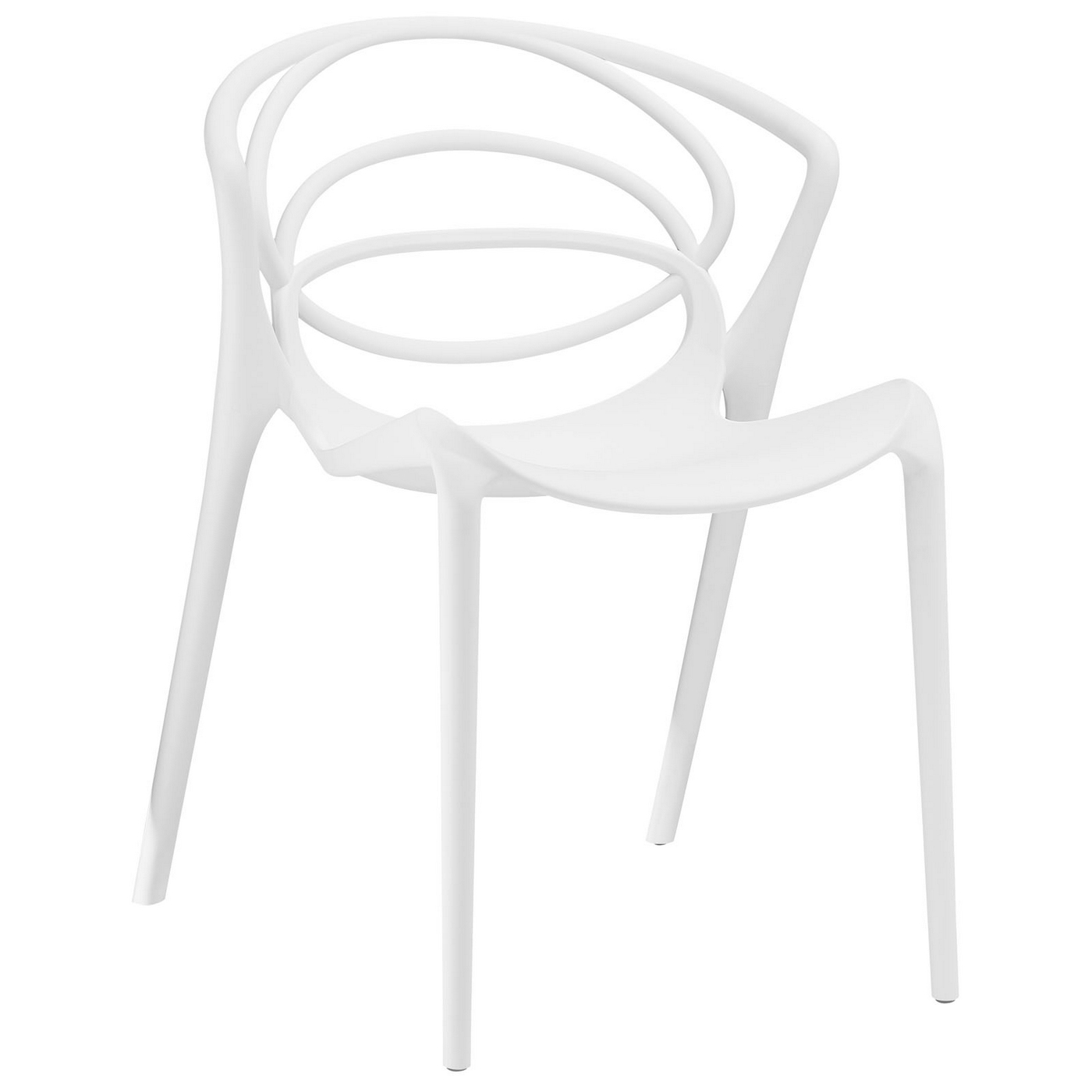 White Plastic Modern Chairs Locus Modern Molded Plastic Stylish Dining Side Chair White