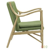 Makeshift Modern Upholstered Lounge Chair With Ash Wood ...