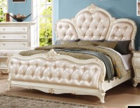 Marquee French Bombe Crystal Tufted King 4-Piece Bedroom ...