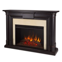 Maxwell Grand Vivid Led Electric Fireplace In Black ...