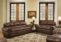 Padre Chocolate Brown Living Room Furniture Set w