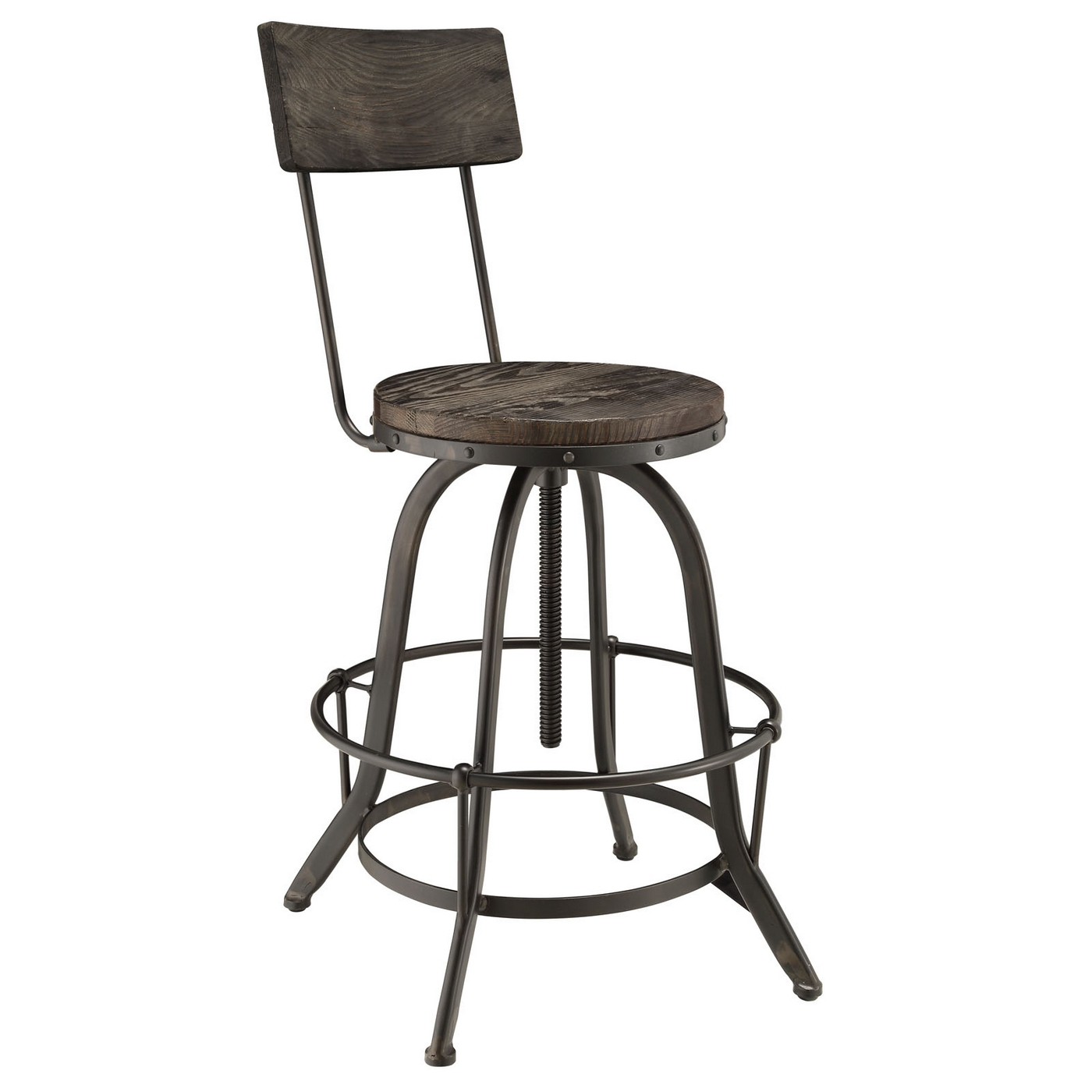 Modern Wood Bar Stool Procure Industrial Modern Wood Bar Stool With Cast Iron