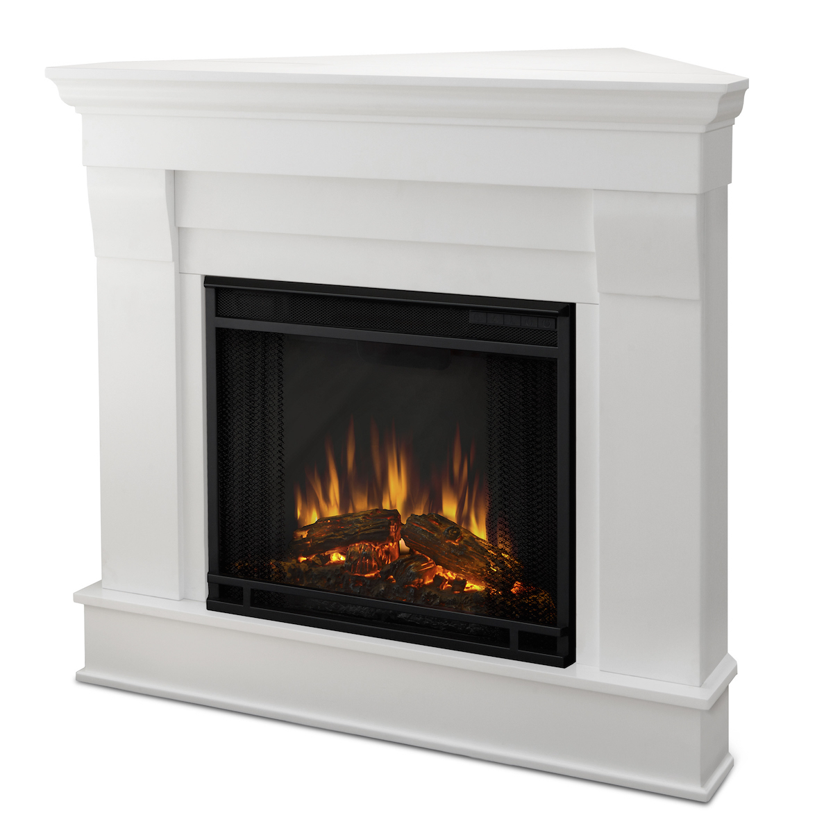 Bedroom Fireplace Heater Real Flame Chateau Corner Electric Fireplace In White