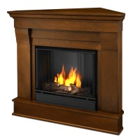 Real Flame Chateau Corner Ventless Gel Fireplace in Espresso