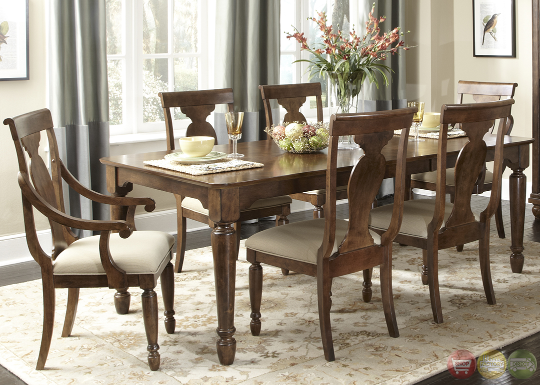 Fancy Dining Room Sets Rustic Cherry Rectangular Table Formal Dining Room Set