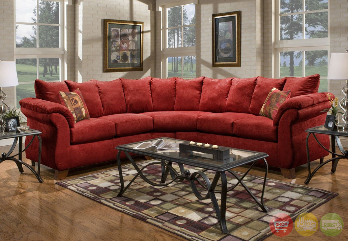 Microfiber Sectional Canada Sensations Red Microfiber Sectional Sofa With Loose Pillow