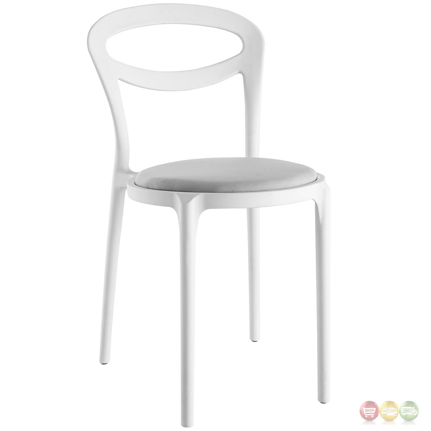 White Plastic Modern Chairs Set Of 4 Assist Modern Molded Plastic Side Chair W Padded