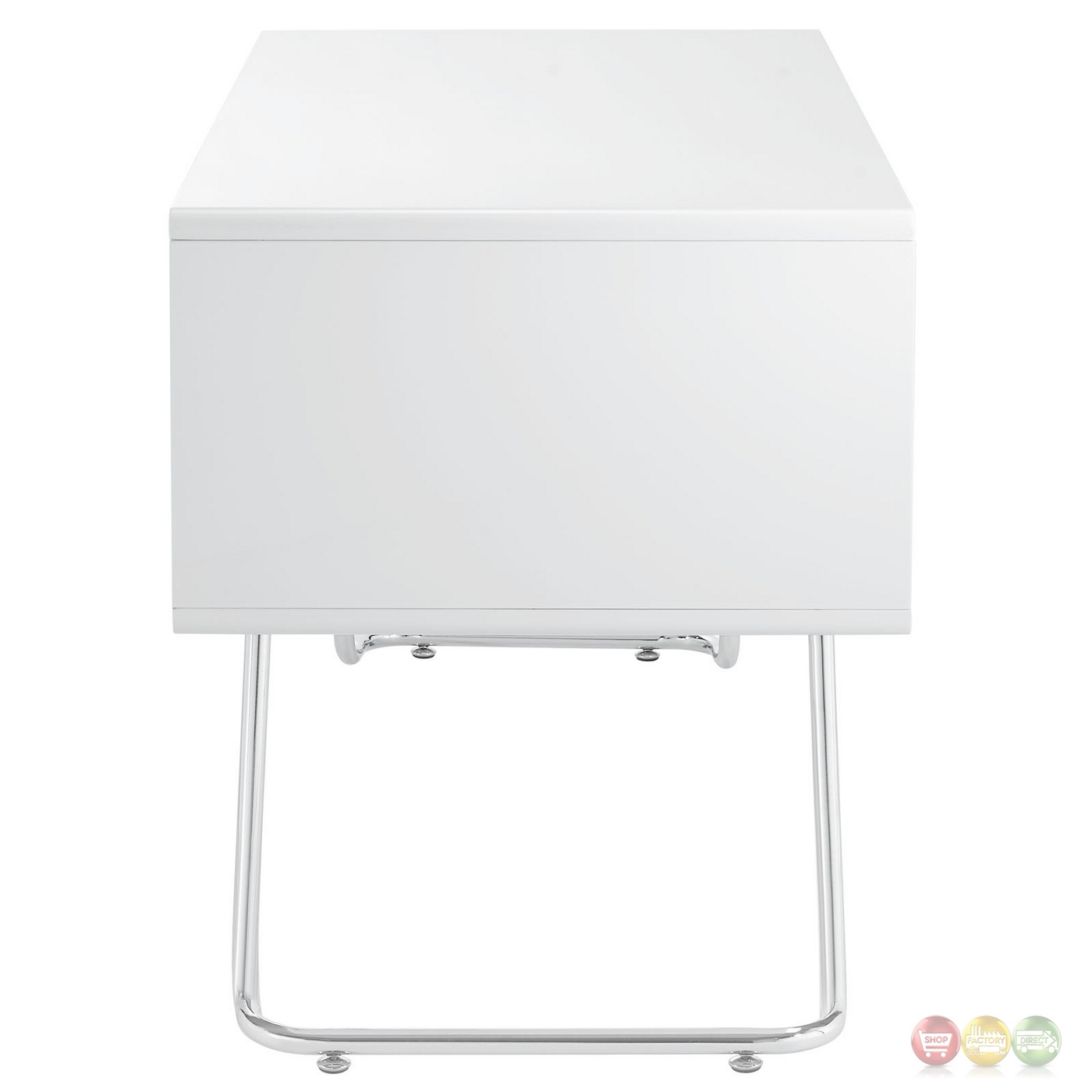 White Desk With Chrome Legs Swag Contemporary 2 Drawer Office Desk With Chrome Legs White