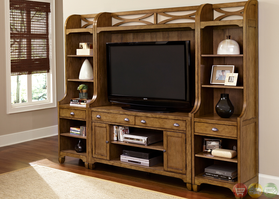 Pine Entertainment Unit Town And Country Cottage Style Entertainment Center