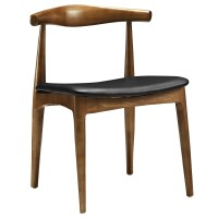 Tracy Mid-century Modern Curved Wood Dining Side Chair W ...