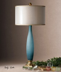 Alaia Frosted Cobalt Blue Glass Table Lamp 26582-1