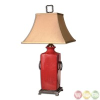 Rocco Tomato Red Glazed Porcelain Table Lamp 26907