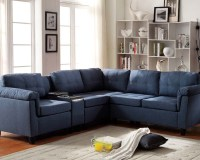 Acme Furniture Blue Sectional Sofa Cleavon AC51525