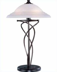 Lite Source Bronze w/ Cloud Glass Shade Table Lamp LS ...