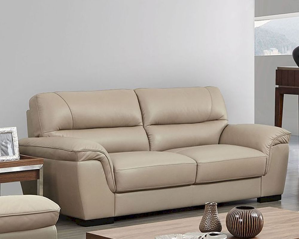 Sofa Beige Modern Leather Sofa In Beige Color Esf8052s