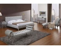 Platinum Edition Bedroom Set w/ Modern Bed with Crystals ...