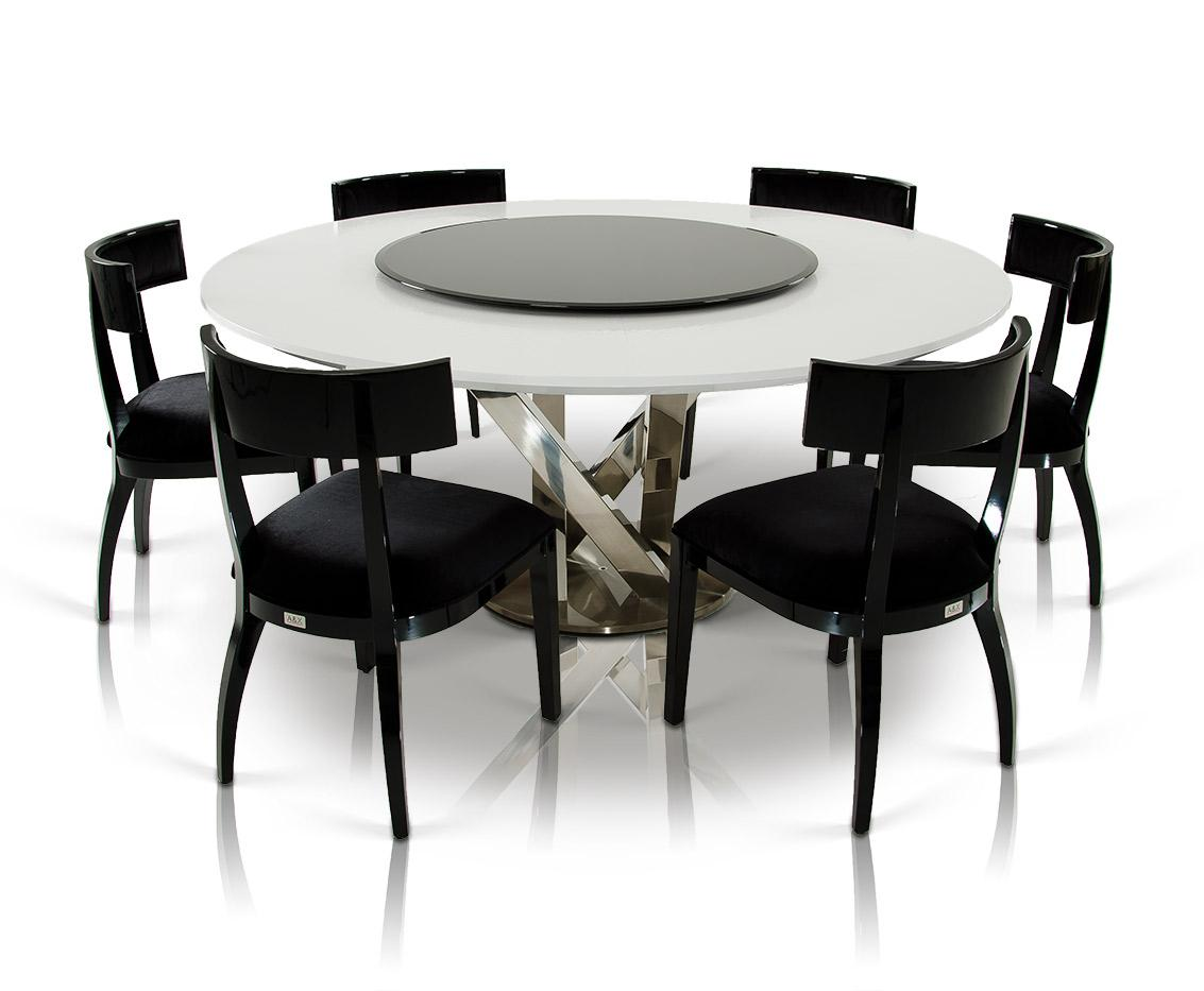 Modern White Dining Table A Andx Spiral Modern Round White Dining Table With Lazy Susan