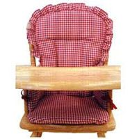 Wooden High Chair Pad / Cover - Red Gingham - High Chairs ...