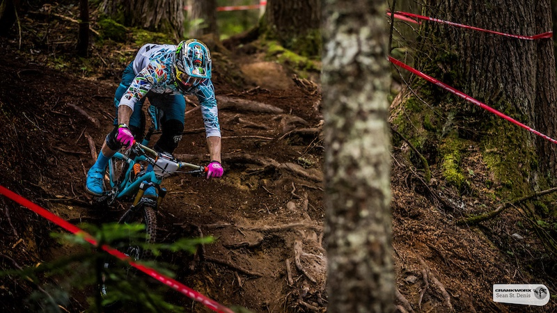 Jared Graves on the first stage of the SRAM Canadian Open Enduro Presented by Specialized. In Whistler British Columbia Sean St.Denis