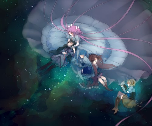 The Goddess watches over the puella magi.