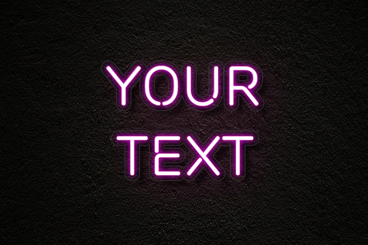 Neon Text Effect - neon lettering