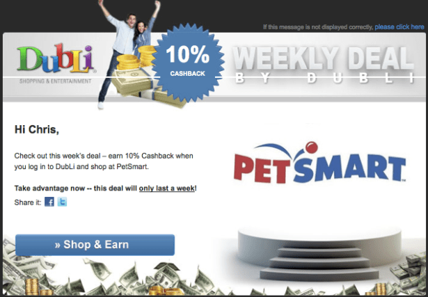 Cashback Pet Shopping with Dubli!