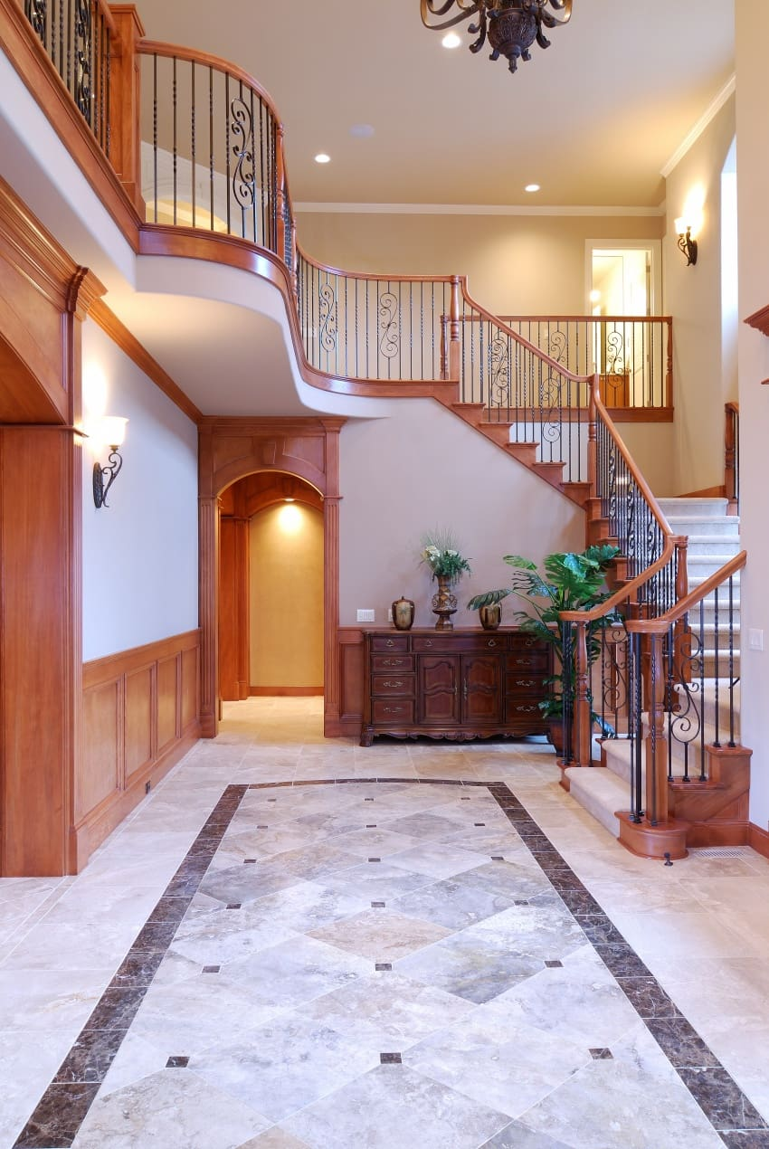 40 Fantastic Foyer Entryways With Staircases In Luxury Homes Images